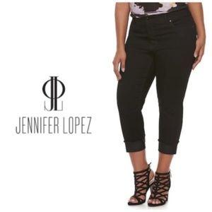 Jennifer Lopez Black Capri Jeans Plus Size 26W